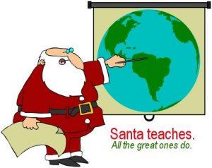Santa Teaches