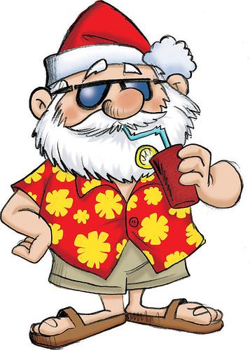 Santa Seeks Summer Fun in North America 1
