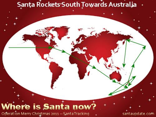 Santa Rockets South Again Towards Australia 1