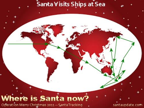 Santa Visits the Ships at Sea 1