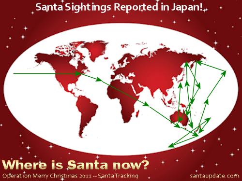 Santa Sightings Reported in Japan 1