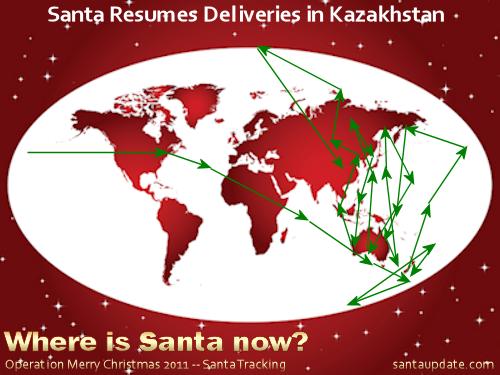 Santa Resumes Deliveries in Kazakhstan 1
