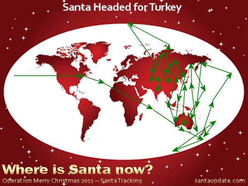 Santa Swipes Mrs. Claus' Sleigh, Heads for Turkey 1
