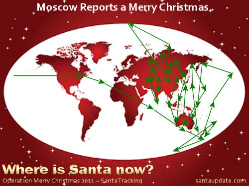 Santa Visits Moscow 1