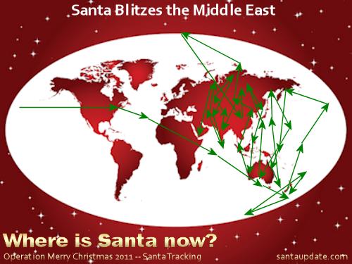 Santa Blitzes the Middle East 1