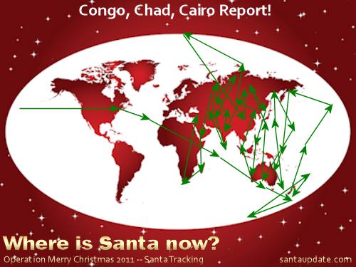Santa Races Through Africa 1