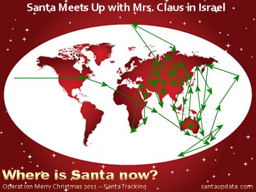 Santa Stops in Bethlehem, Jerusalem with Mrs. Claus 1