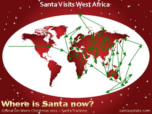 Santa Visits West Africa 1