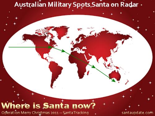 Australian Military Spots Santa on Radar 1