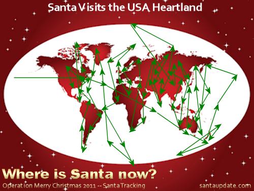 Santa Visits the USA Heartland 1