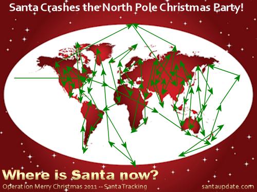 Santa Crashes the North Pole Christmas Party 1