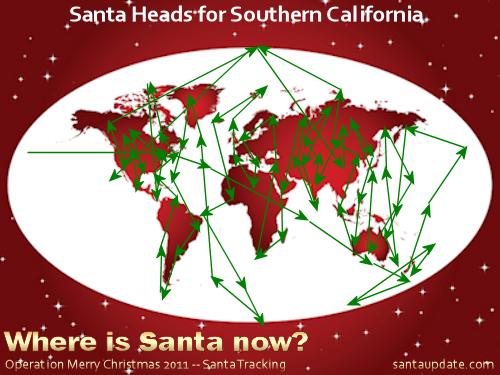 Santa Heads for Southern California 1