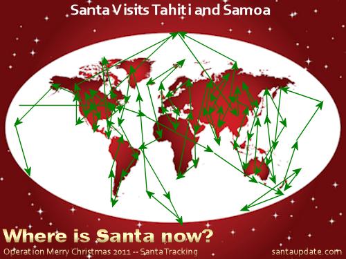 Santa Visits Tahiti and Samoa 1