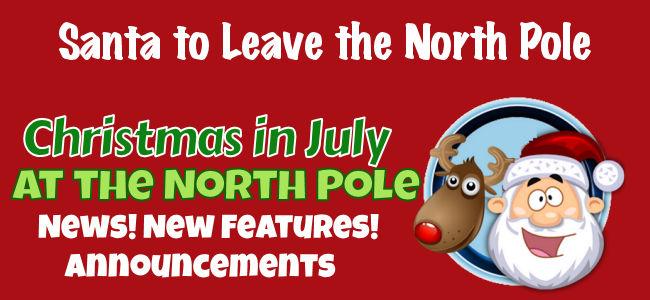 Santa Leaving the North Pole 1