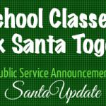 Schools tracking Santa