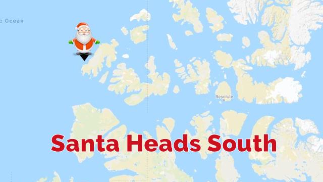 Santa Heads South 7