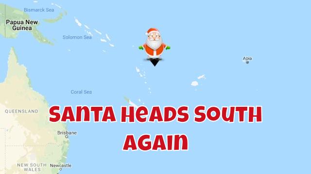 Santa Back in the Skies in the South Atlantic 1