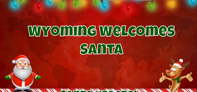 Santa Goes Back North to Wyoming