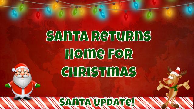 North Pole Welcomes Santa Home 1