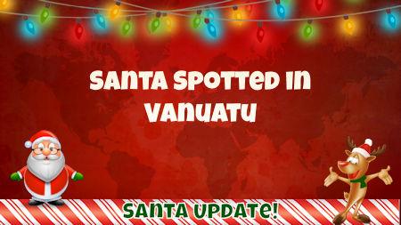 Santa Sighting in Vanuatu 1