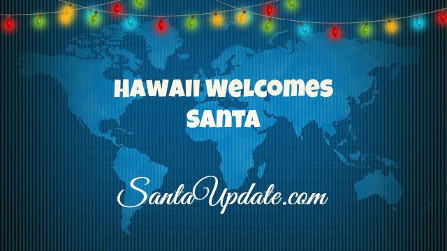 Santa Passes through Hawaii 1
