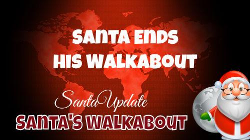 Santa Ends His Walkabout