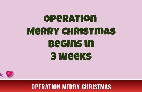 Operation Merry Christmas Begins in 7 Weeks 2