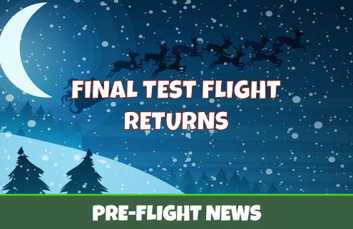Final Test Flight Over