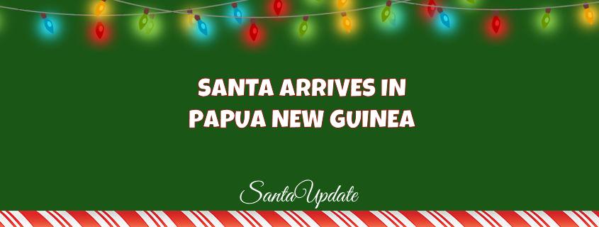 Santa Welcomed in Papua New Guinea 1