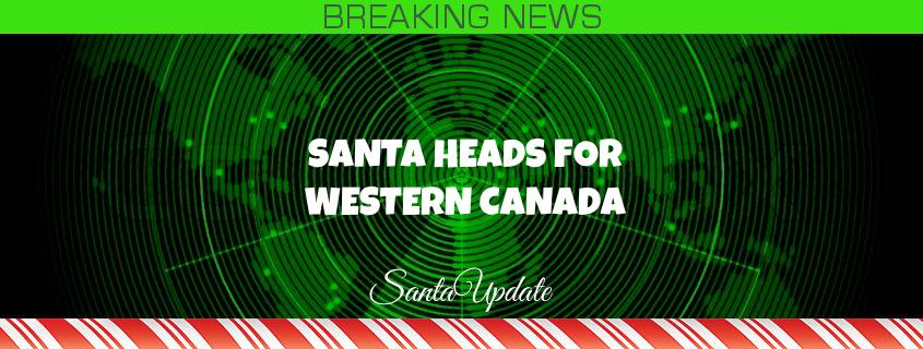 Santa Heads for Western Canada 1