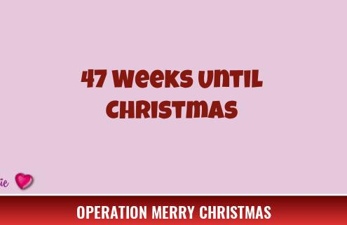 47 Weeks Until Christmas 2