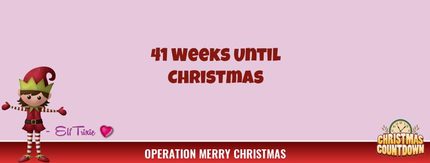 41 Weeks Until Christmas 1
